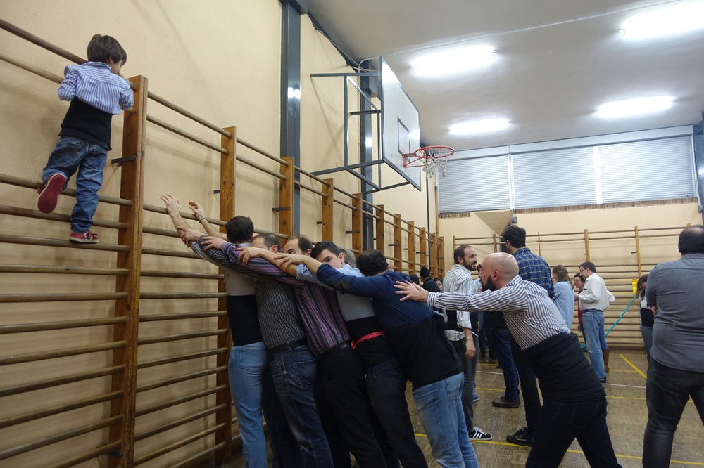 Primer assaig colla castellera Madrid (2)