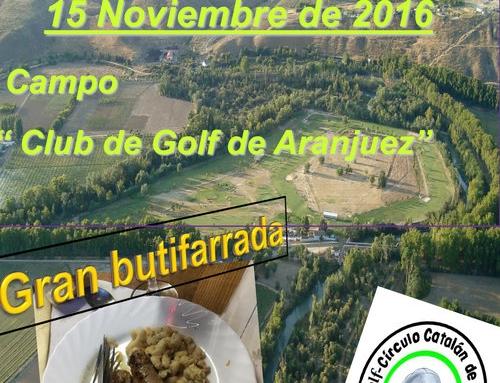 """Golf – Trobada 15/11/2016 amb la penya """"Arrimar y Meter"""""""